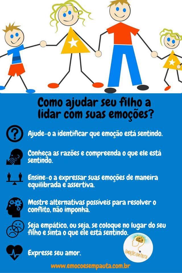 A #dica de hoje é para os #pais. #Crianças #Emoções #Filhos #Psicologia #PsicologiaInfantil