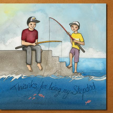 """""""Thanks for being my stepdad"""" card design by flossy-p, for Modern Family Cards.  #card #stepson #stepdad #fathersday #flossyp #flossy-p"""