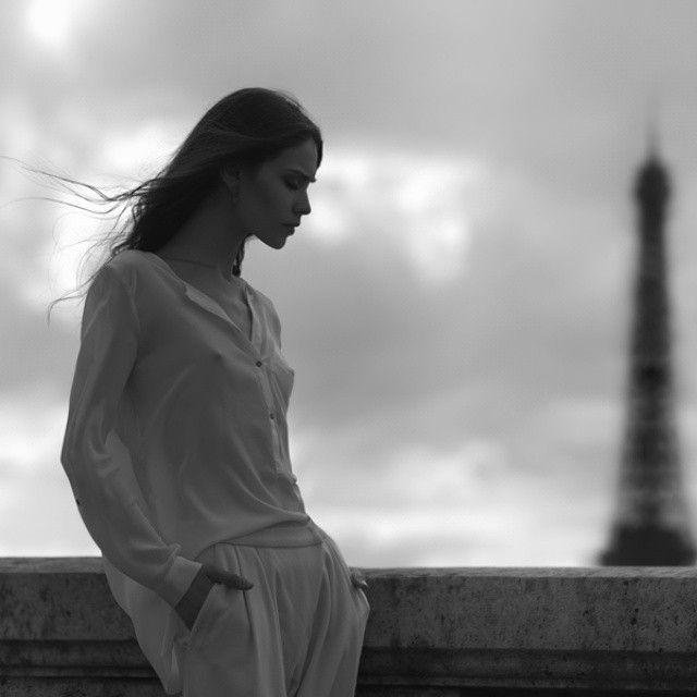 #paris #eiffel #mood #model #models #beautiful #beauty #fashion #shirt #body #brunette #hair #girl #woman #black #blackwhite #look #photo #picture #shooting #sebastiancviq #love
