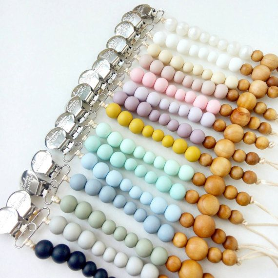 Our beautiful Color Block pacifier clips are the best baby shower gift! They…
