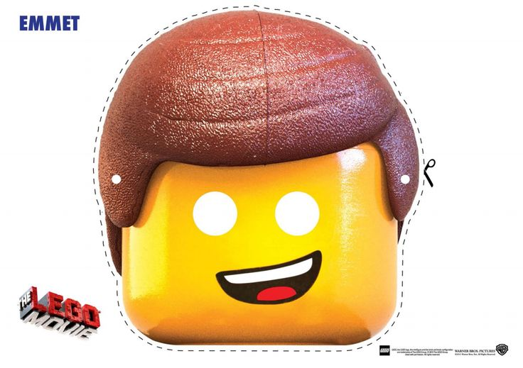 Free: The LEGO Movie Coloring Pages, LEGO Face Masks and LEGO Movie Valentine's Day Printables