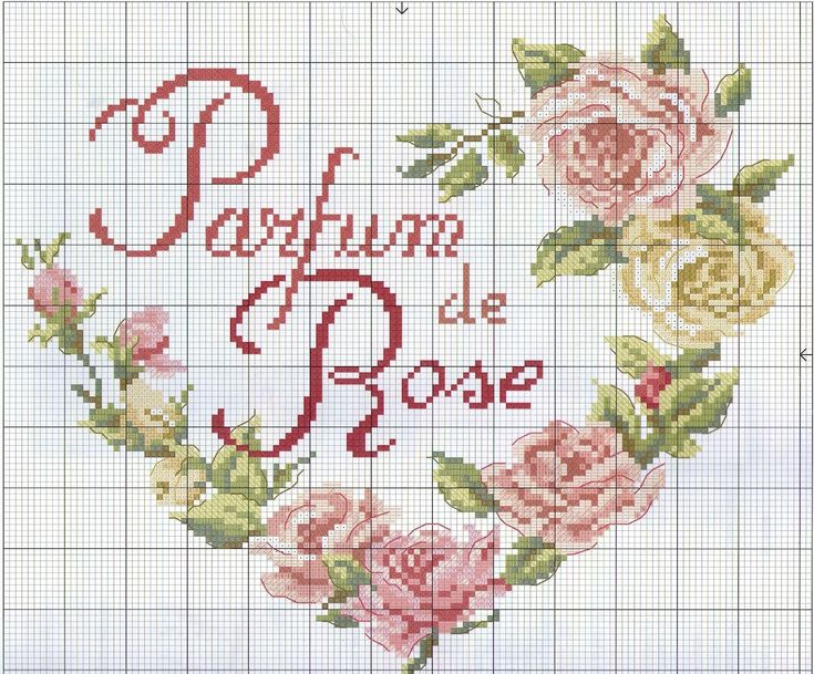 Cross Stitch pattern - Heart of Roses