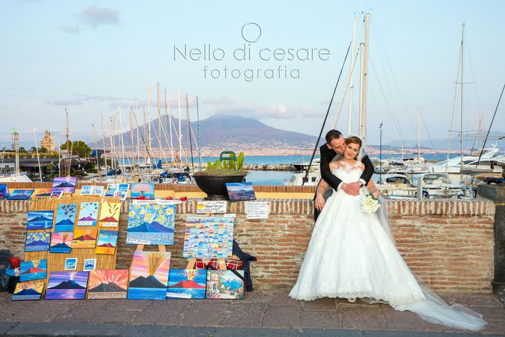 #Naples, #Vesuvius, #colors and the #bride and #groom!  #nellodicesarephotographer #wedding #italy #photographer #paint #love