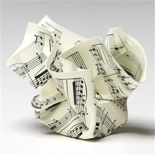 MoMA Crumpled Sheet Music Paperweight at The Music Stand