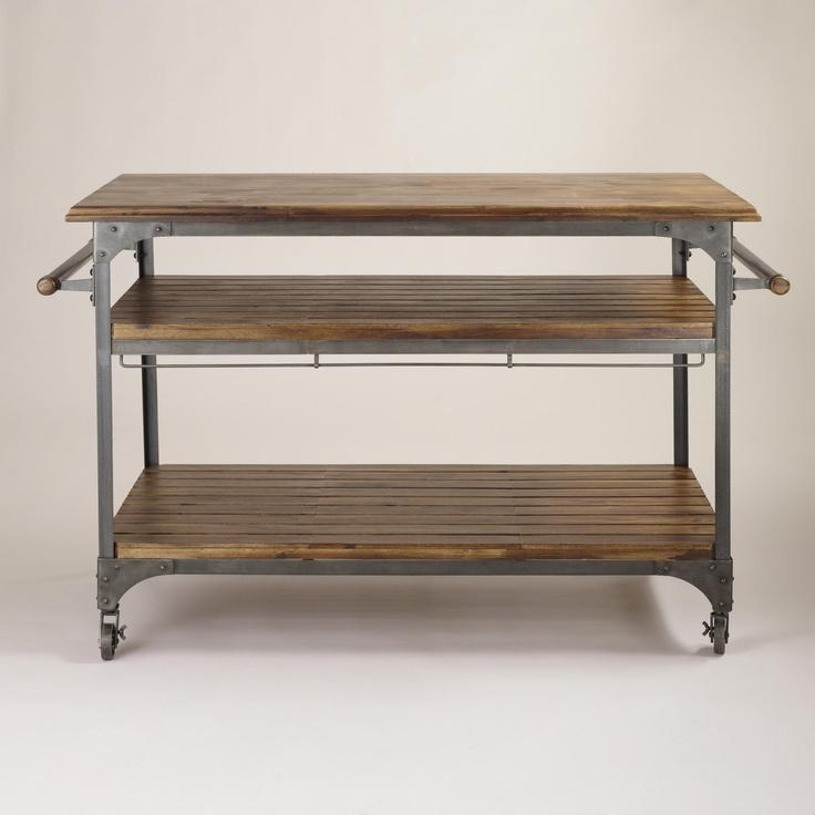 Wood And Metal Jackson Kitchen Cart