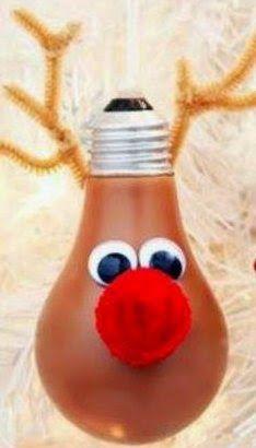 Baumschmuck Aus Gluhbirne Ornament Made Of Light Bulb Upcycling