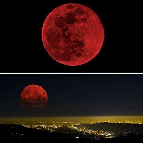 luna rossa eclissi lunare