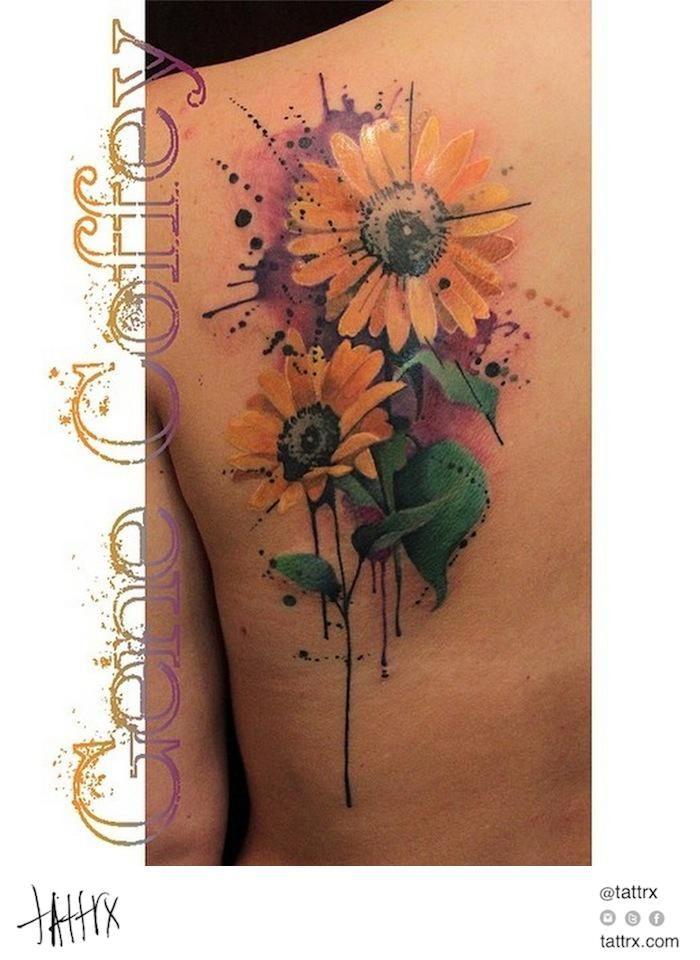 Gene Coffey Tattoo Culture Brooklyn - Sunflowers