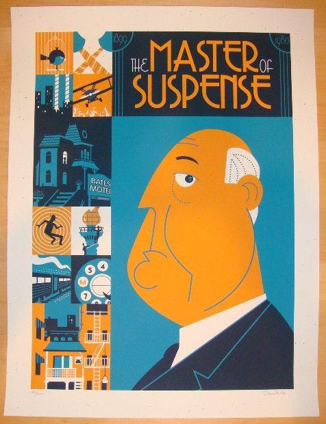 "2012 ""Alfred Hitchcock"" - Silkscreen Movie Poster by Perillo"