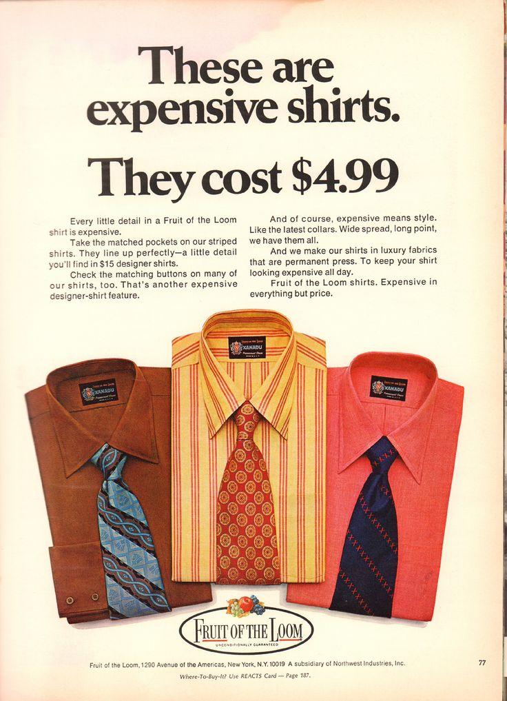 1970 Fruit Of The Loom Shirt Advertisement Playboy April