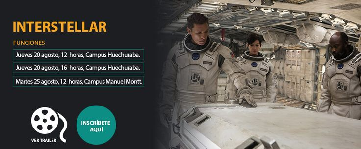 Estudias en Manuel Montt y tienes ventana?  Aprovecha de ver buen cine, a las 12 Interstellar en una nueva función de #CineenlaMayor #UMayor