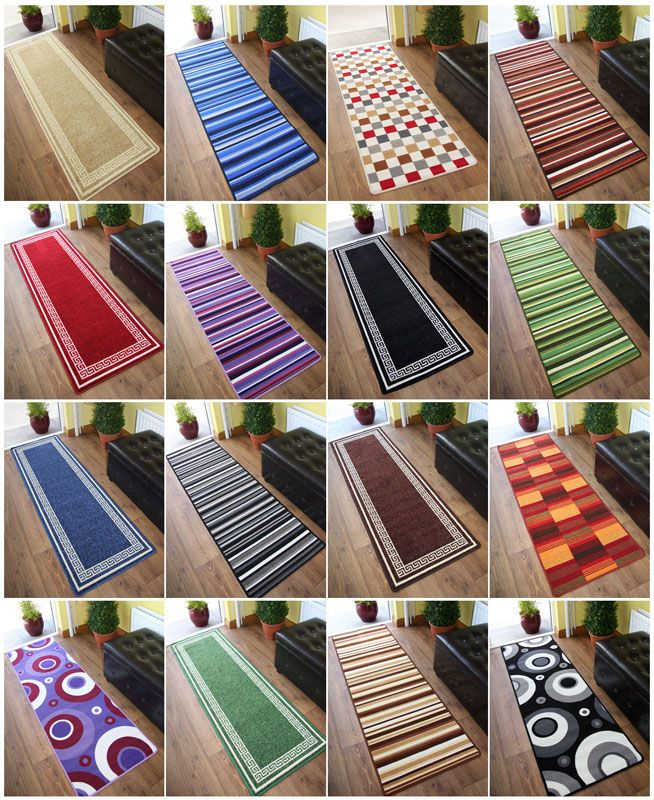 Machine Washable Non Slip Hall Runner Rugs New Long Easy Clean Hallway Mat Creative