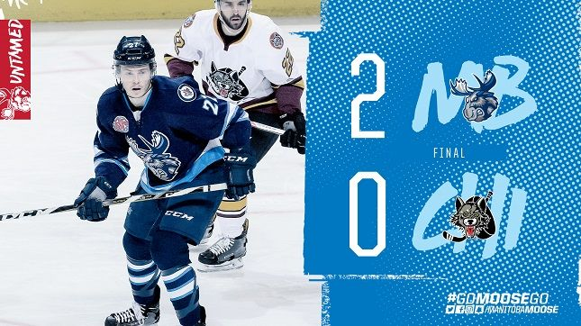 Manitoba Moose (34-14-4-3) vs. Chicago Wolves (27-18-6-2) Saturday, February 24, 2018 – Bell MTS Place, Winnipeg, MB Scoring Summary 1 2 3 F Chicago Wolves 0 0 0 0 Manitoba Moose 0 2 0 2   Shots By Period 1 2 3 F Chicago Wolves 10 11 12 33 Manitoba Moose 6 21 12 39... Read More