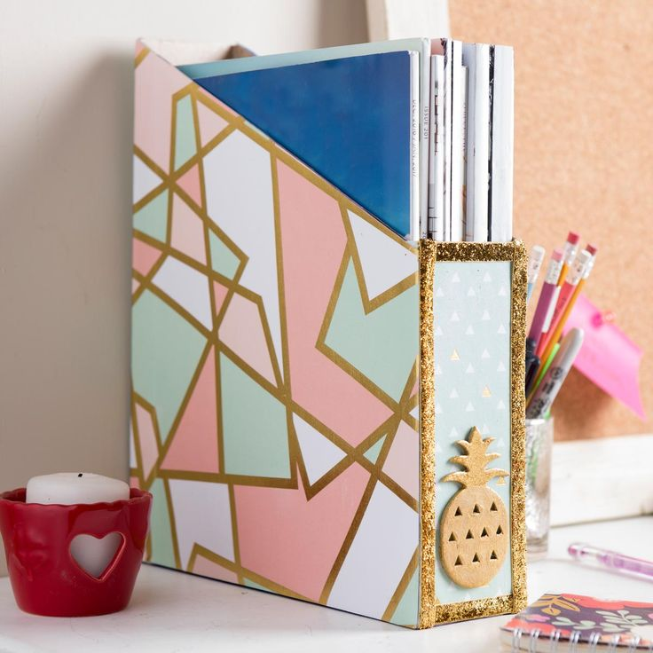Magazine Holder from a Cereal Box. Home and Office Organization DIY