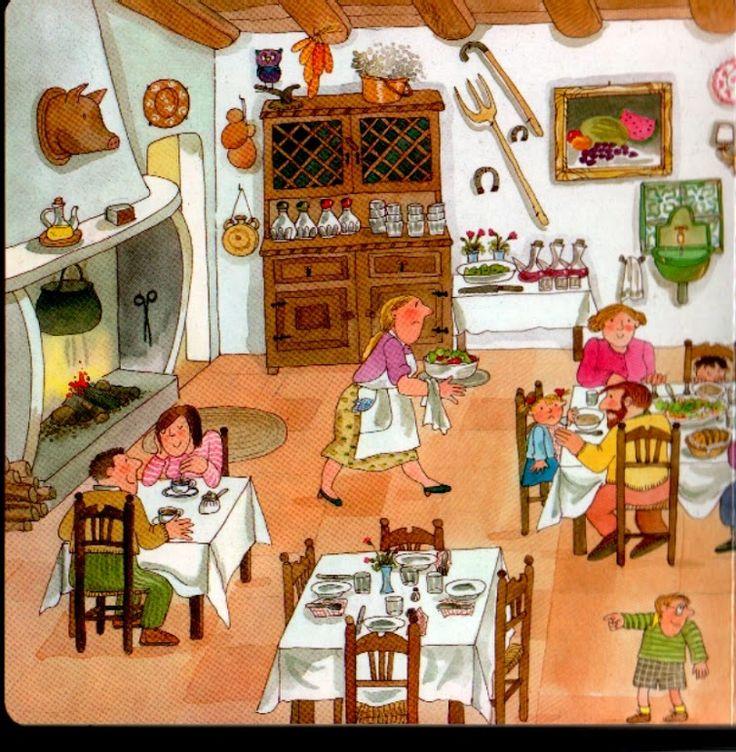 restaurant 1, praatplaat voor kleuters
