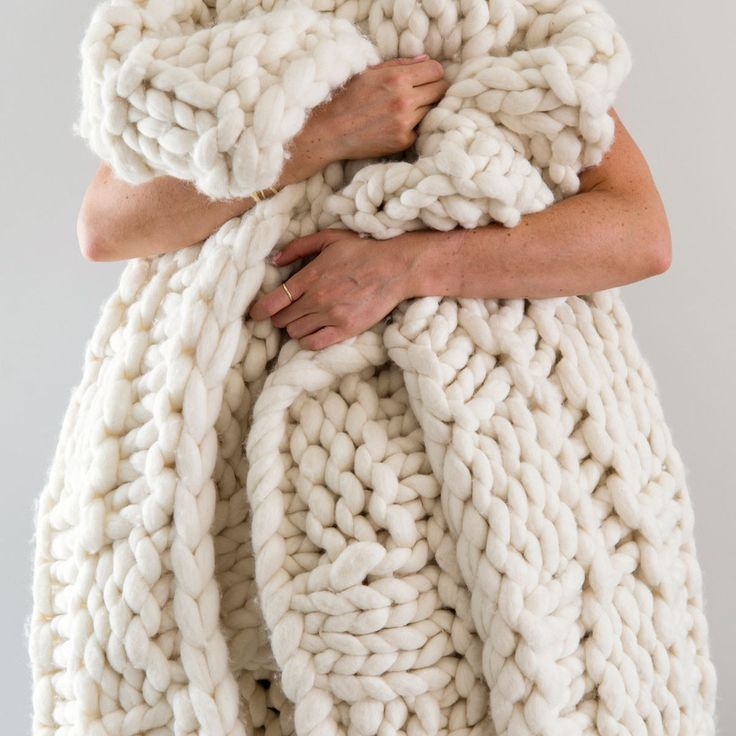 Ready-made-Range  |  XXL Basket Weave Blanket  |  White  |  165cm x 165cm