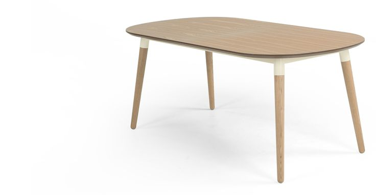 Edelweiss Extending Dining Table, Ash and White