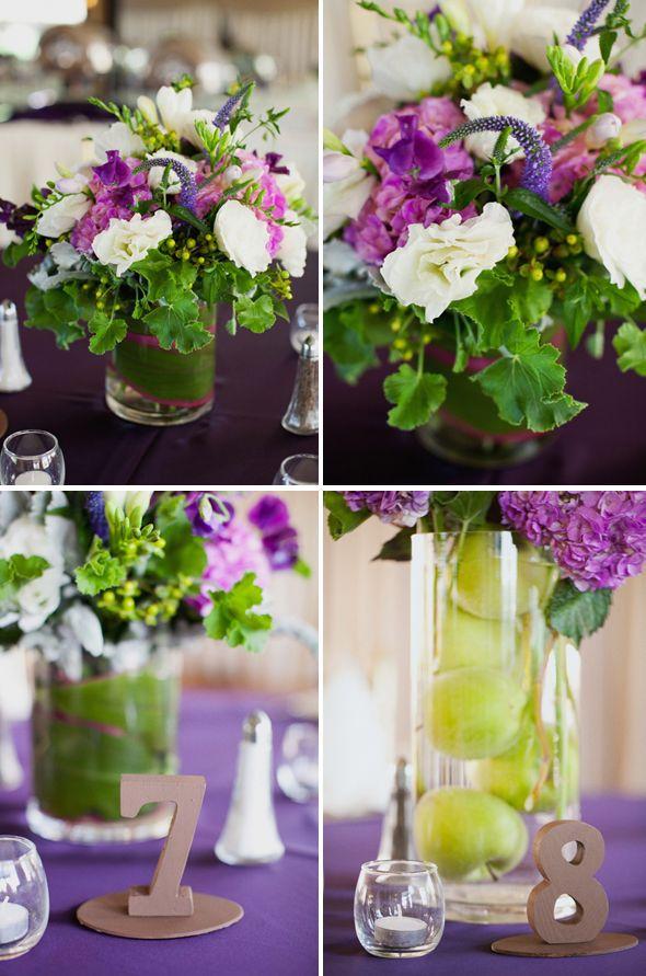 Eggplant Wedding Colors   mauve wedding table decoration pink and black wedding reception tall ...