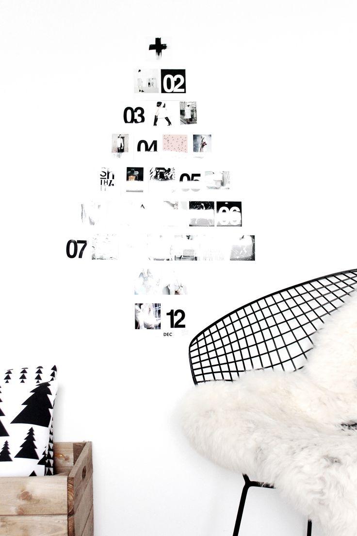 Modern Holiday // black and white Christmas