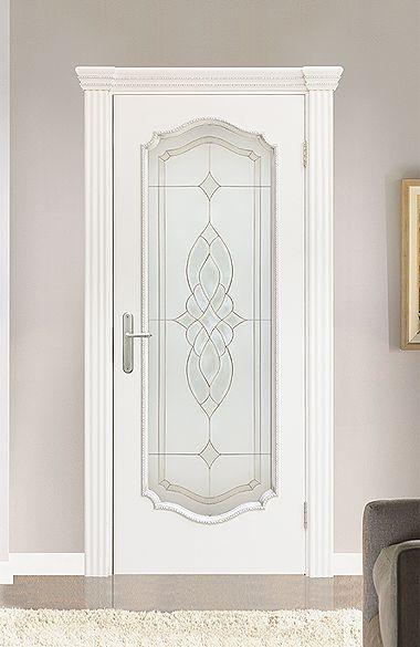 Межкомнатная дверь «Сицилия В». Отделка «белая эмаль» #дверирулес #двери…
