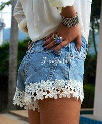 джинсовые шорты с кружевом - Поиск в Google