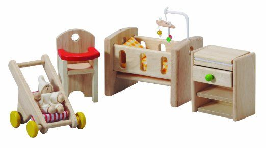 Amazon.com : Plan Toy Doll House Nursery : Dollhouse Furniture : Toys & Games