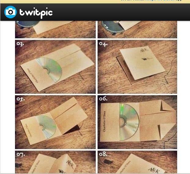 A4の紙で簡単にCDケースを作る方法が話題に