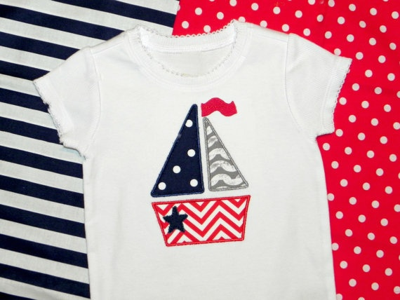 Love this! 4th of July Chevron Stripe Sailboat Boy or Girl Boutique Shirt or Baby Onesie. $23.00, via Etsy.: Boy Or Girl, Sailboat Boy, Baby Clothes, Baby Onesie, Stripe Sailboat, Baby Stuff