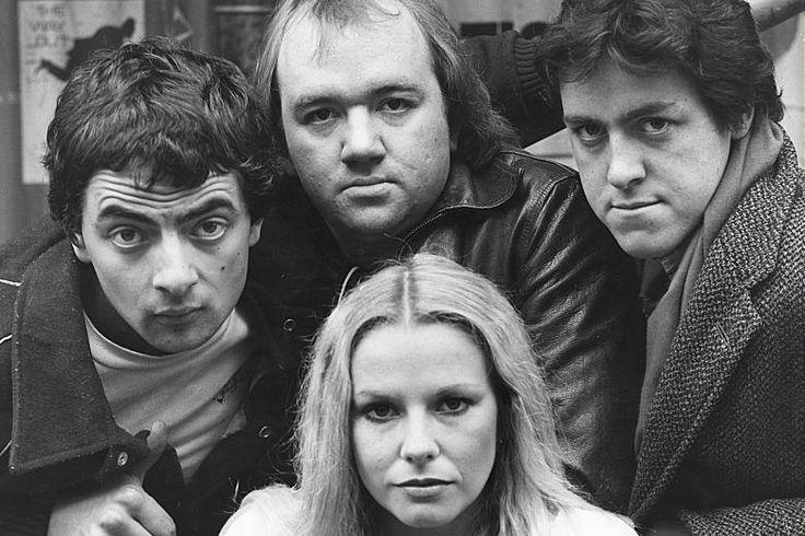 Not the Nine O'Clock News. Rowan Atkinson,  Pamela Stephenson, Mel Smith, and Griff Rhys Jones.