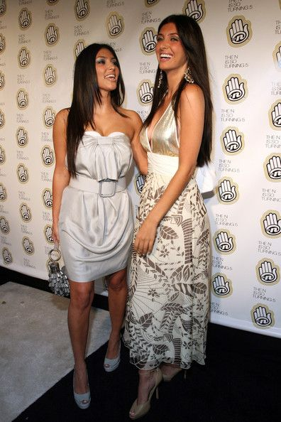 Socialite Kim Kardashian (L) and model Brittny Gastineau attend the What Teens Want Party for Nickelodeon Network the N at Marquee June 18, 2007 in New York City.