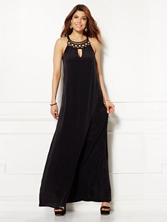 Naomi Embroidered Maxi Dress