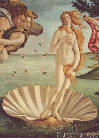 Sandro Botticelli - Geburt der Venus (Detail)