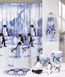 Charming Penguin Shower Curtains | Black And White Penguin Shower Curtain (Penguin  Party) | Shop