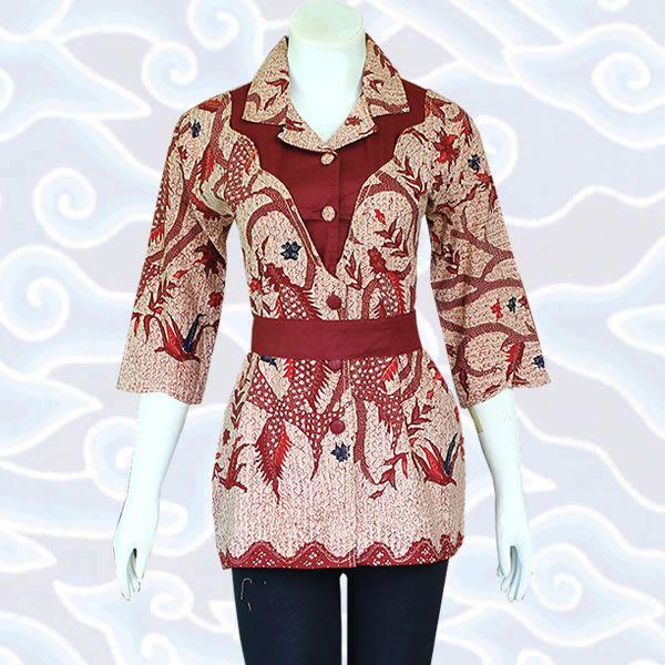 blus batik BB100 selengkapnya di http://sekarbatik.com/blus-batik/