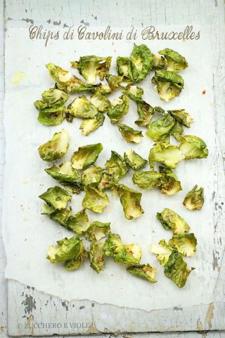 zucchero e viole vegan-vegetarian blog: Chips di Cavolini di Bruxelles