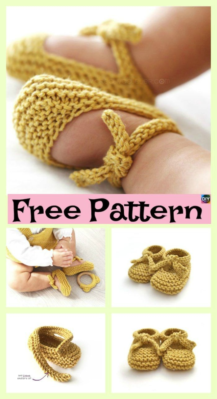Adorable Knitted Baby Ballerina Booties Free Patterns Crochet