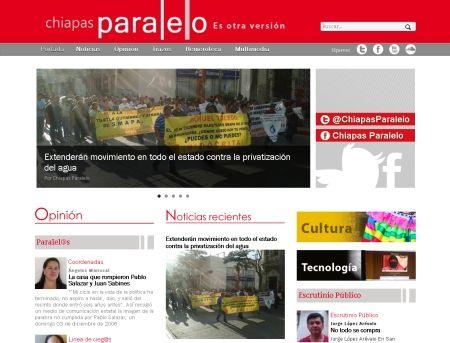 Surge un nuevo diario digital en México: Chiapas paralelo