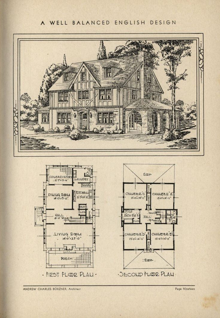 1932 the book of beautiful homes vintage house plans for Vintage tudor house plans