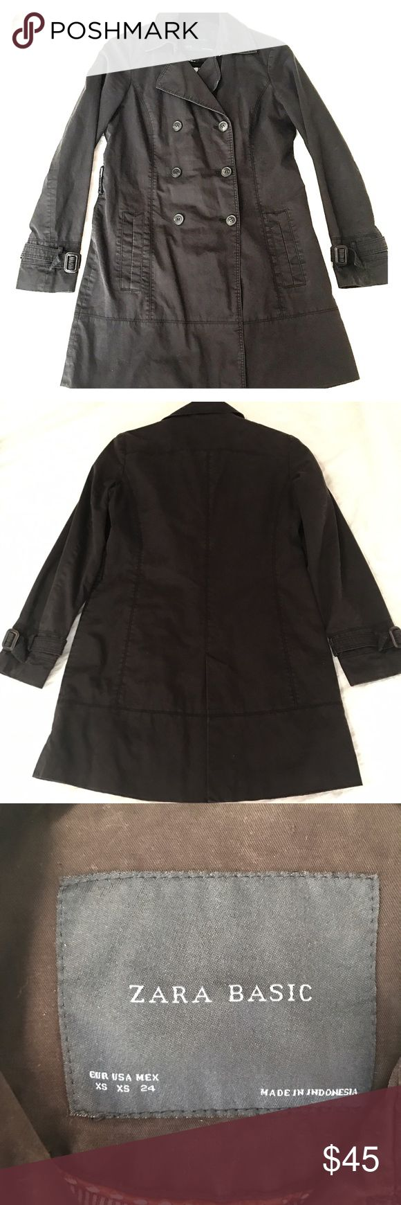 Zara Women's Lightweight Trench Coat Worn but in great condition still! No stains, rips or damage. Super lightweight and classy. The fabric is soft and durable. It's an extra small, but I'm a size 4 and it fits good. Zara Jackets & Coats Trench Coats