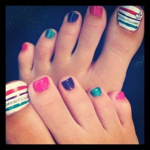 Cute Nail Art Designs For Toes ~ Pretty toe nail designs hair styles