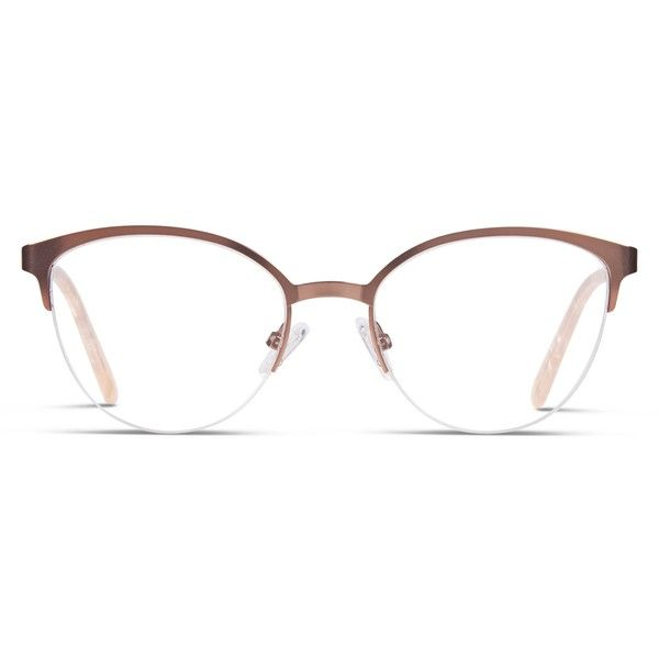 Ottoto Daniele Rose Gold ($78) ❤ liked on Polyvore featuring accessories, eyewear, rose gold, retro glasses, cat eye glasses, cat-eye glasses, retro cat eye glasses and lightweight glasses