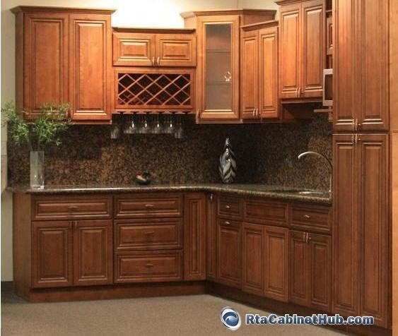 Material For Kitchen Cabinet: Glazed+oak+kitchen+cabinet+pics