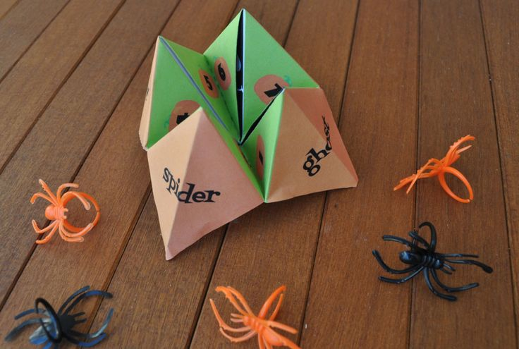 Trick or Treat Fortune Teller FREE Download | Tween Craft Ideas for Mom and Daughter