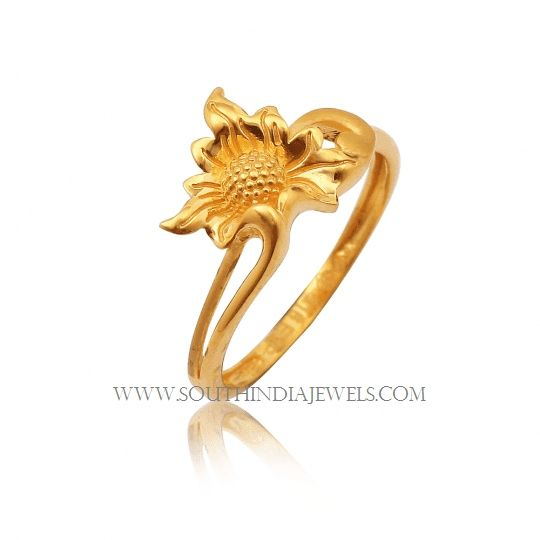 Gold Ring Design For Female Without Stone Ring