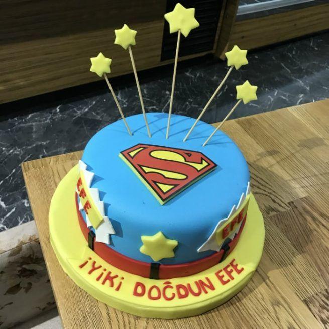 Superman Tasarım Pasta • 1 Dakikada Sipariş Ver! • Bulvar Pastanesi    #pasta #cake #butikpasta #superman