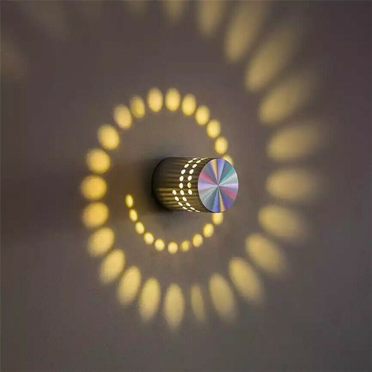 Details about Cool/Warm White Spiral Hole Wall Lamp Surface Install LED Light Luminaire KTV Li