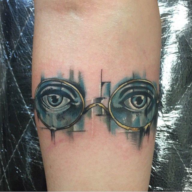 Great Gatsby tattoo by Alonzo Villa-Bearcat Tattoo Gallery-Little Italy-San Diego, CA