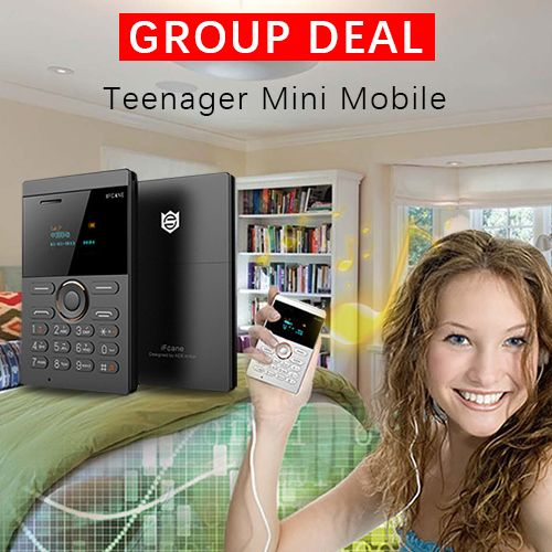 Today's group deal - iFcane E1 Credit Card Size Mini Unlocked Mobile Phone for Students. #teenager#mobilephones#phones#cellphone#mobile