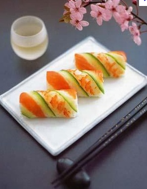 Traditional Japanese Sushi Rolls