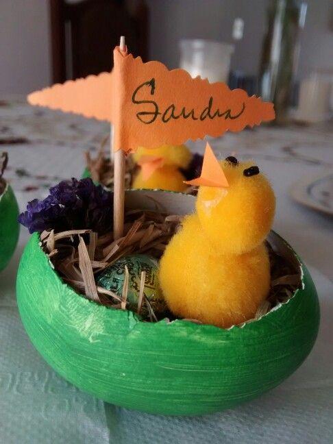 Marca sitio para la mesa de Pascua. / smicasadetodo.blogspot.com